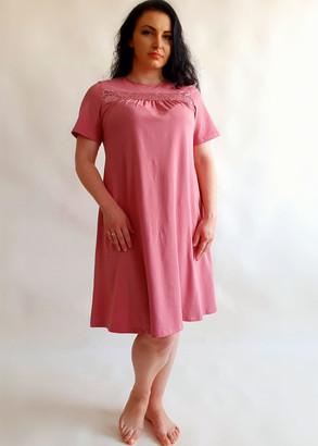 03-068 Ночная сорочка из хлопка Marsana Пурпурно-розовый