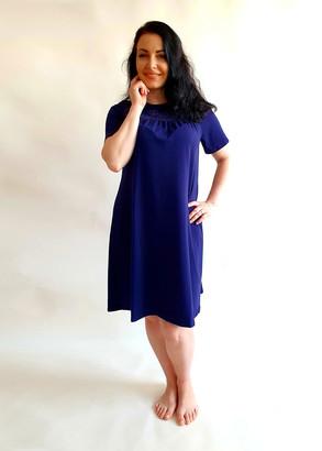 03-068 Ночная сорочка из хлопка Marsana Сапфир