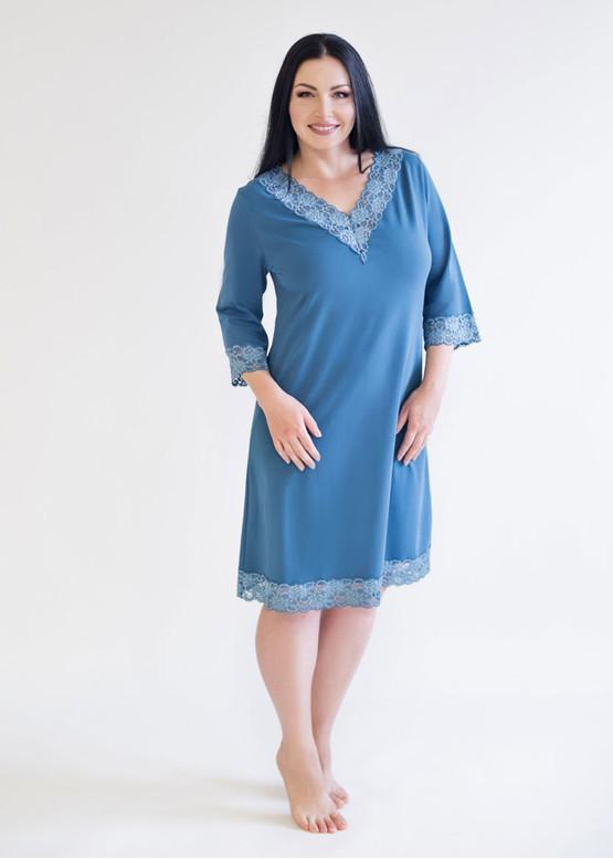 03-034 Ночная сорочка из хлопка Marsana Индиго