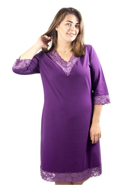 03-034 Ночная сорочка из хлопка Marsana Аметист