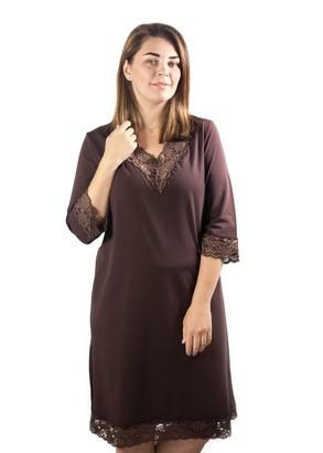 03-034 Ночная сорочка из хлопка Marsana Шоколад