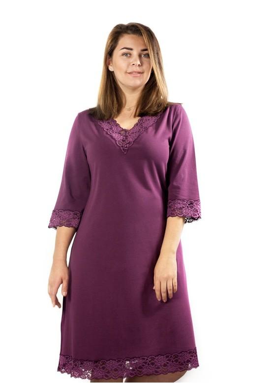 03-034 Ночная сорочка из хлопка Marsana Вино
