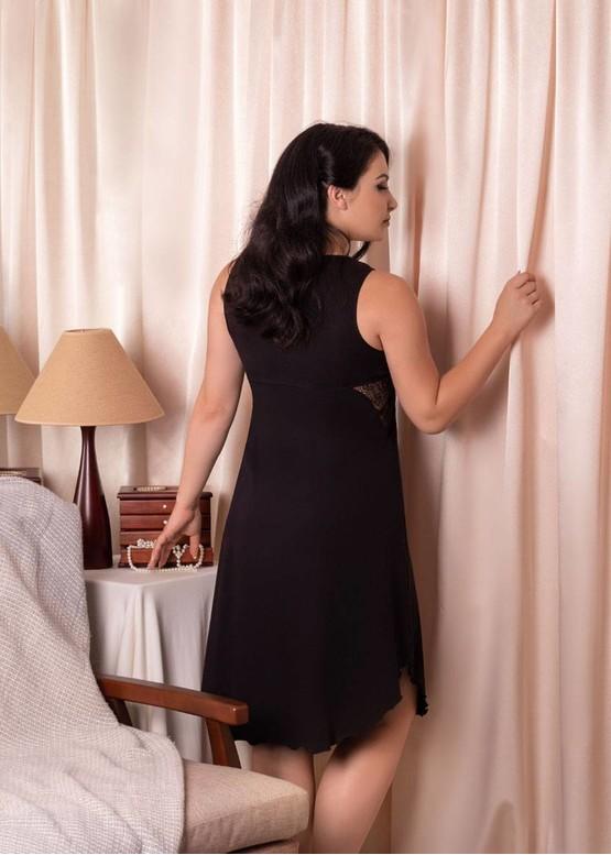 03-038 Нічна сорочка з бавовни Marsana Чорний