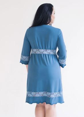 03-050 Нічна сорочка з бавовни Marsana Індиго