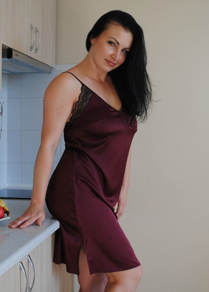 03-071 Ночная сорочка Plus size Marsana Бордо
