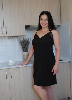 03-071 Ночная сорочка Plus size Marsana Черный