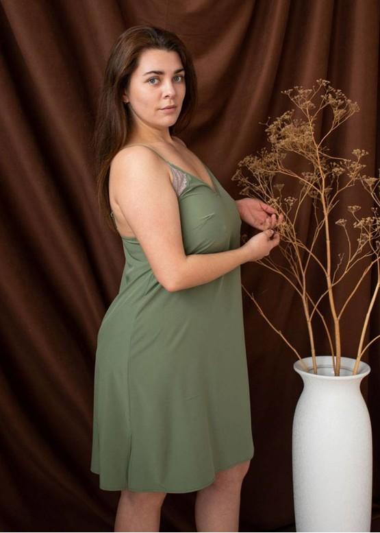 03-071 Ночная сорочка Plus size Marsana Оливковый