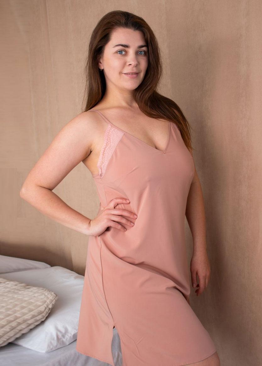 03-071 Ночная сорочка Plus size Marsana Пудра