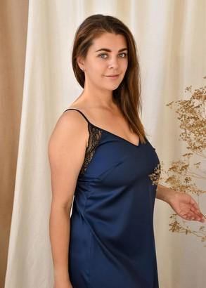 03-071 Ночная сорочка Plus size Marsana Сапфир