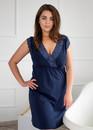 03-077 Хлопковая ночная сорочка большого размера Marsana Сапфир