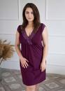 03-077 Хлопковая ночная сорочка большого размера Marsana Вино
