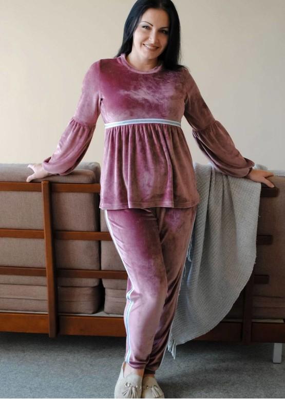 19-004 Велюровый костюм Marsana Амарантовый