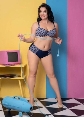 54-221 Купальник-бикини большого размера Blue Leaflet Marsana Синий