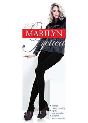 00250 Женские хлопковые колготки Miss Marilyn Arctica 250 Den Черный