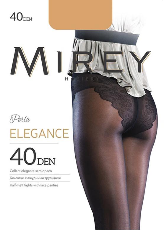 0040 Женские колготки с ажурными трусиками Mirey Elegance Glace 40 Den Бежевый