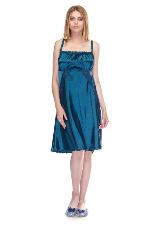 1022 Женская атласная сорочка большого размера Serenade Зеленая