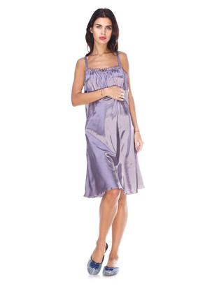 1112 Женская атласная сорочка большого размера Serenade Графит