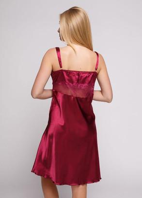 1212 Женская атласная сорочка большого размера Serenade Бордовый