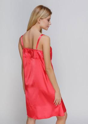 1302 Женская атласная сорочка большого размера Serenade Коралловый