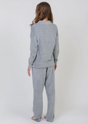 8007 Женская пижама большого размера из вискозы Serenade Серый