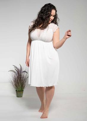 1344 Жіноча нічна сорочка великих розмірів Shato Екрю