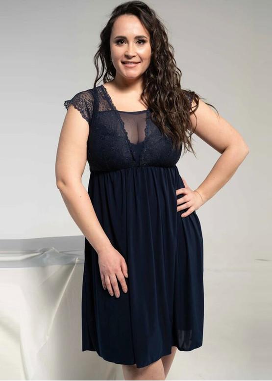 1344 Женская ночная сорочка больших размеров Shato Индиго