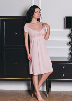 1515 Сорочка средней длины из вискозы Shato Розовый