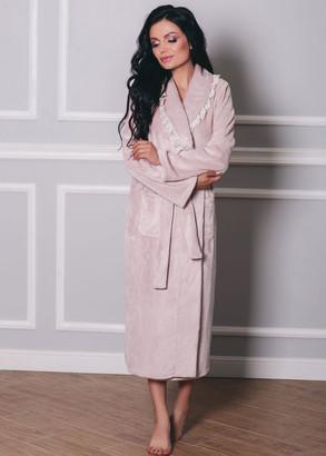 1531 Жіночий халат з велсофта Shato Темно-рожевий