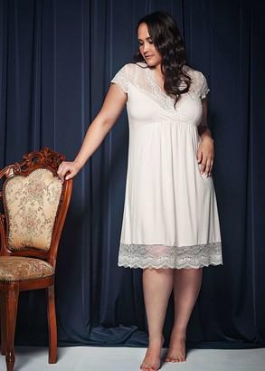 1720 Женская сорочка большого размера из вискозы Shato Лососевый