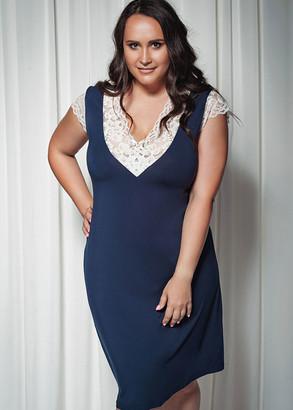 1723 Жіноча сорочка великого розміру з віскози Shato Індиго