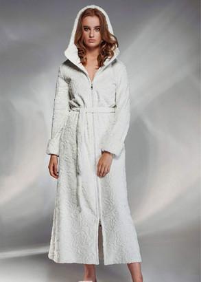 1737 Женский халат большого размера Shato Жемчужно-белый