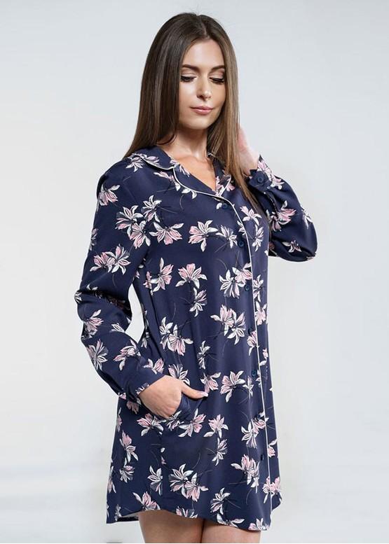 1823 Женская ночная сорочка из хлопка Shato Индиго