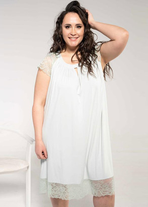 1833 Женская ночная сорочка большого размера из вискозы Shato Лазурный