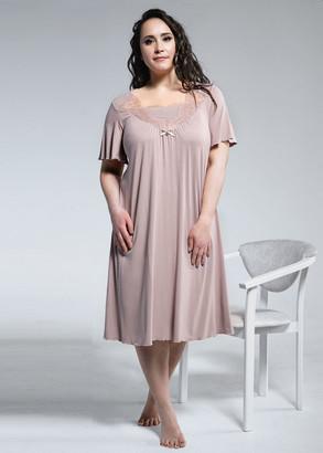 1834 Женская сорочка большого размера из вискозы Shato Капучино