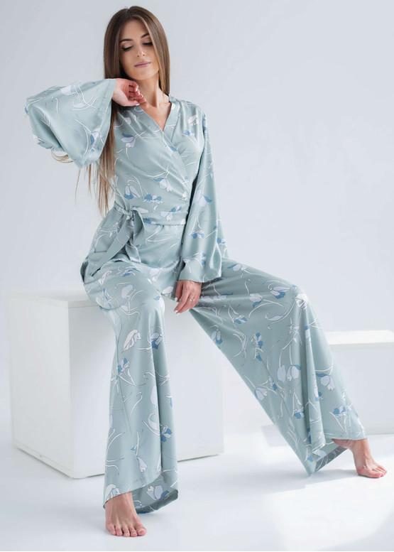 1904 Женская шелковая пижама больших размеров Shato Оливковый