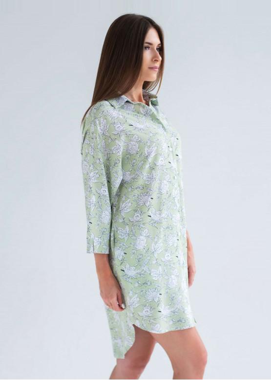 1907 Женская ночная сорочка из хлопка Shato Оливковый