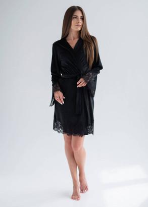 1930 Жіночий велюровий халат Shato Чорний