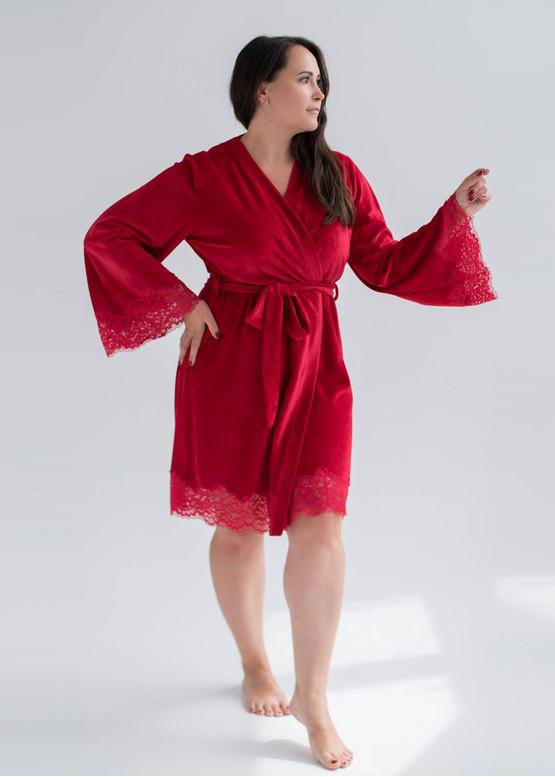 1930 Женский велюровый халат Shato Красный