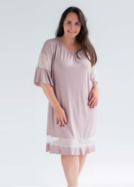1935 Женская ночная сорочка большого размера из вискозы Shato Капучино