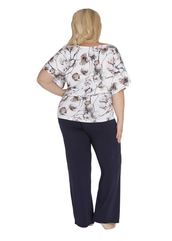 1946 Женская пижама большого размера из вискозы Shato Экрю-индиго